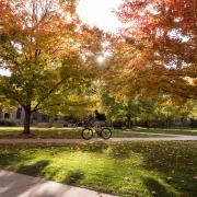 A scenic fall image on the CU Boulder Campus
