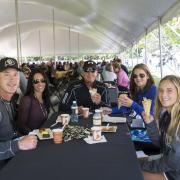 Families eating during 2017 Family Weekend