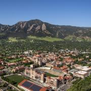 Aerial view of CU Boulder Campus.