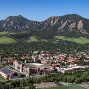 2018 Aerials over CU Boulder and surrounding Boulder area. (Photo by Glenn Asakawa/University of Colorado)