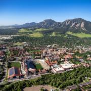 CU Boulder main campus aerial