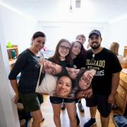 New Buffs family during move-in