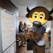 Scenes from move-in on Tuesday, Aug. 20, 2019, at Baker Hall. (Photo by Glenn Asakawa/University of Colorado)