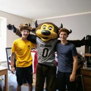 Chip and his roommates at CU Boulder.