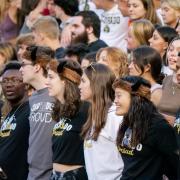 First year students attend 2021 Kickoff and Spirit Night at Folsom Field on Aug. 20, 2021. (Photo by Glenn Asakawa/University of Colorado)