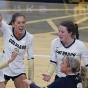 CU women's team volleyball players