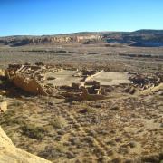 Pueblo Bonito ruins at Chaco Canyon, New Mexico
