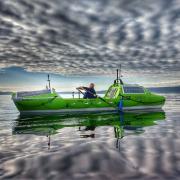 Rower on the ocean