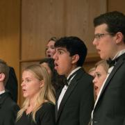CU choir members performing