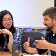 Students interacting