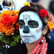 Dia de los Muertos Marigold Parade in Albuquerque, New Mexico