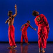 students dancing in innovative, multisensory performance