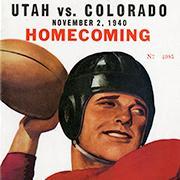 Utah v Colorado homecoming poster