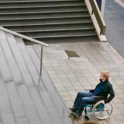 Abled man takes stares, disabled man searches for wheelchair accessible entry