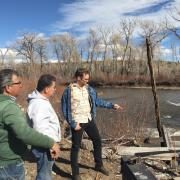 Gunnar Paulsen ('18) working with farmers on the Acequia Project in the San Luis Valley