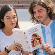 Two students reading Sabrina & Corina