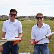 CU Boulder aerospace students Lucas Droste and Jaquelyn Romano