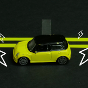 electric car graphic