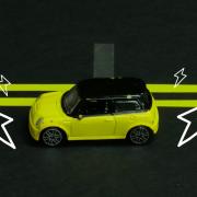 electric car graphic