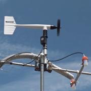 air quality monitoring equipment set up at Boulder Reservoir