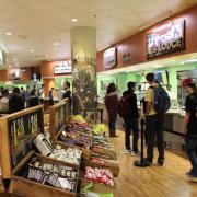 Students line up in Alferd Packer Grill