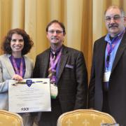 Amy Javernick-Will accepts award at Construction Research Congress in New Orleans