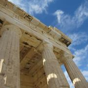Ancient Greek structure at the Acropolis in Athens