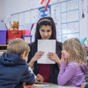 Anisha Span teaches young children in a classroom