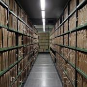 Hallway of archived documents | CC photo by The National Archives UK, 2011