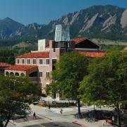 ATLAS Center on campus with Flatirons in background