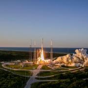 An Atlas V rocket carried the OSIRIS-REx spacecraft into space last night.