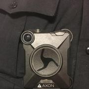 New body-worn camera worn by CU Boulder Police officers.