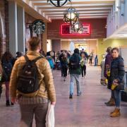 Students walk across the UMC