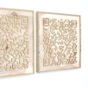 Visiting artist James Bailey, map-inspired art