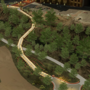 Rendering of new pedestrian bridge