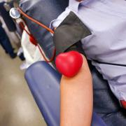 Stock image of a blood drive