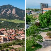 CU Boulder, left, and CU Anschutz Medical Campus