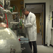 Brad Hall works in a lab.