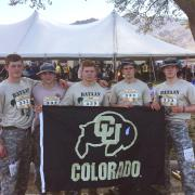 Cadets David McCormick, Colin Campbell, Maxwell Leicester, Cary Sullivan and Andrew Dahm post-race