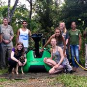 Photo of the CU Engineering team in Brazil