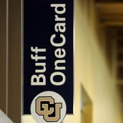 A Buff OneCard office sign