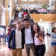 Students gathered in the UMC atrium