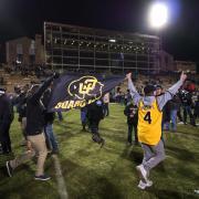 Buffs fans celebrate win against Utah