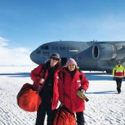 Ian Geraghty and Xinzhao Chu in Antarctica