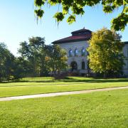 Campus lawn during summer