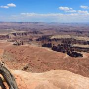 A view from Grand View Point Overlook toward Monument Basin, Island in the Sky district in Canyonlands National Park, Utah