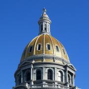The Colorado capitol building dome.