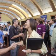 Women at CU Boulder career fair