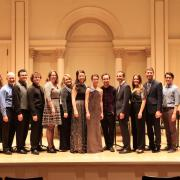 CU music group at Carnegie Hall