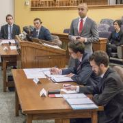 Lawyers at Wittemyer Courtroom during 2015 Carrigan Cup